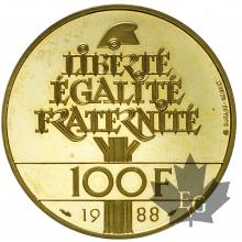 FRANCE-1988-100 FRANCS-PROOF