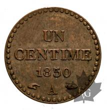 FRANCE-1850A-1 CENT-IIe REPUBLIQUE-SUP