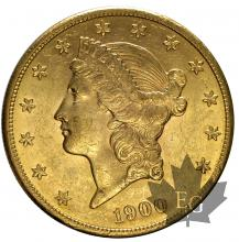 USA-1900-20 DOLLARS LIBERTY HEAD-TTB-SUP