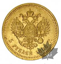 RUSSIE-1889-5 ROUBLES-SUP