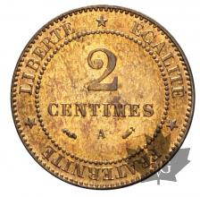FRANCE-1883A-2 CENTIMES-SUP-FDC