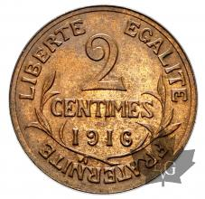 FRANCE-1916A-2 CENTIMES-SUP-FDC