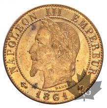 FRANCE-1861A-1 CENTIME-NAPOLÉON III-SUP-FDC