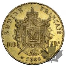FRANCE-1866BB-100 FRANCS-SUP