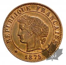 FRANCE-1875A-1 CENTIME-SUP