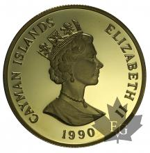 CAYMAN ISLANDS-1990-250 DOLLARS-PROOF