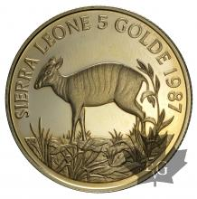 SIERRA LEONE-1987-5 GOLDE-PROOF