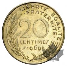 FRANCE-1969-20 CENTIMES-SUP-FDC