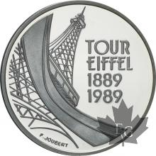 FRANCE-1989-5 FRANCS-tour Eiffel-ÉPREUVE-PROOF