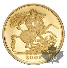 GRANDE BRETAGNE-2008-1/2 POUNDS-PROOF