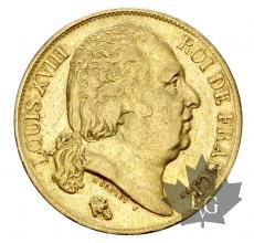 FRANCE-1818A-20 FRANCS-LOUIS XVIII-TTB