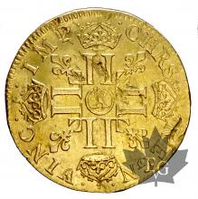 FRANCE-1653X-LOUIS XIV-LOUIS D'OR À LA MÈCHE LONGUE-TTB