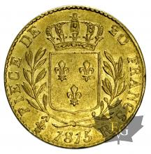 FRANCE-1815R-20 FRANCS-LOUIS XVIII-TTB-SUP