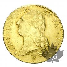 FRANCE-1789K-DOUBLE LOUIS D'OR TÊTE NUE-LOUIS XVI-TTB