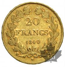 FRANCE-1840W-20 FRANCS-LOUIS PHILIPPE-TTB-SUP