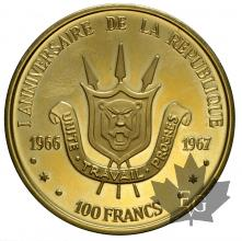 BURUNDI-1967-100 FRANCS-PROOF