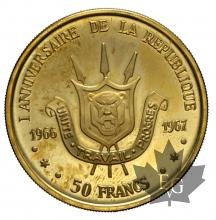 BURUNDI-1967-50 FRANCS-PROOF