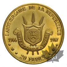BURUNDI-1967-20 FRANCS-PROOF