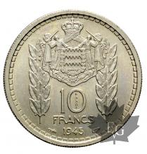 MONACO-1945-10 FRANCS ESSAI-NICKEL-FDC