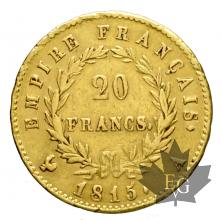 FRANCE-1815A-20 FRANCS-CENT JOURS-TTB