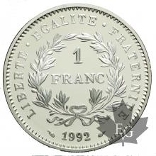 FRANCE-1992-1 FRANC-EPREUVE-PROOF