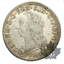 SAVOIE-1765-1/4 ECU- CARLO EMANUELE III-TTB+