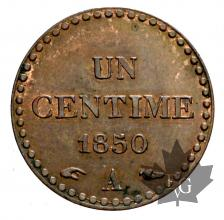 FRANCE-1850A-1 CENTIME-SUP-FDC