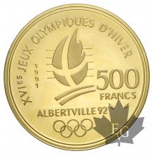 FRANCE-1991-500 FRANCS-Coubertin