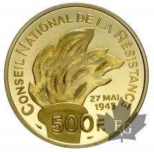 FRANCE-1993-500 FRANCS-RÉSISTANCE-PROOF