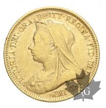 AUSTRALIE-1893S-HALF SOVEREIGN-TTB