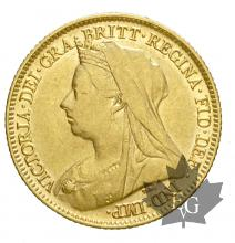 AUSTRALIE-1900M-HALF SOVEREIGN-TTB+