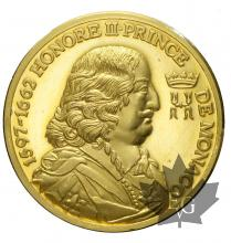 MONACO-MÉDAILLE EN OR  HONORÉ II-PROOF