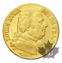 FRANCE-1814L-20 FRANCS LOUIS XVIII-4 Court-TB-TTB