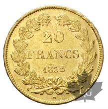 FRANCE-1832 A-20 FRANCS-Louis Philippe-TTB+