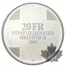 SUISSE-1995-20 FRANCS-PROOF