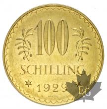 AUTRICHE-1929-100 SHILLING-PROOF LIKE