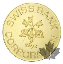 SUISSE-MÉDAILLE SWISS GOLD CORPORATION-1 OUNCE-FDC