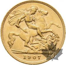 GRANDE BRETAGNE-1907-HALF SOVEREIGN-EDWARD VII-SUP