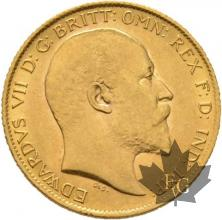 GRANDE BRETAGNE-1909-HALF SOVEREIGN-EDWARD VII-SUP