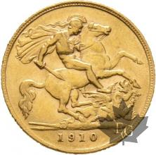 GRANDE BRETAGNE-1910-HALF SOVEREIGN-EDWARD VII-SUP