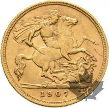 AUSTRALIE-1907 M-HALF SOVEREIGN-EDWARD VII-TTB-SUP