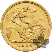 AUSTRALIE-1906 S-HALF SOVEREIGN-EDWARD VII-TTB-SUP