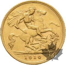 AUSTRALIE-1910 S-HALF SOVEREIGN-EDWARD VII-TTB-SUP