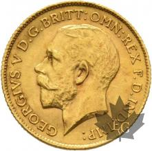 GRANDE BRETAGNE-1912-HALF SOVEREIGN-GEORGE V-SUP+