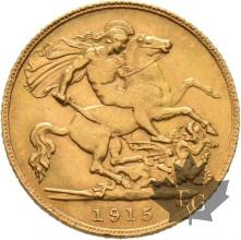 GRANDE BRETAGNE-1915-HALF SOVEREIGN-GEORGE V-SUP
