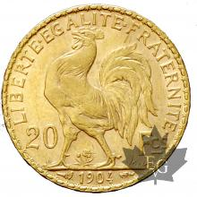 FRANCE-1904-20 FRANCS-MARIANNE-COQ-SUP