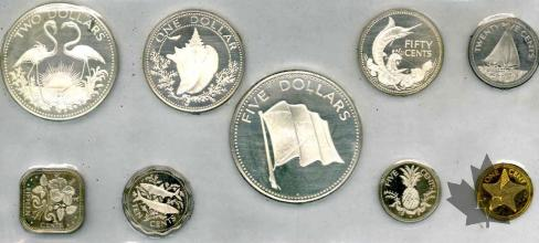 BAHAMAS-1975-PROOF SET- SÉRIE BE