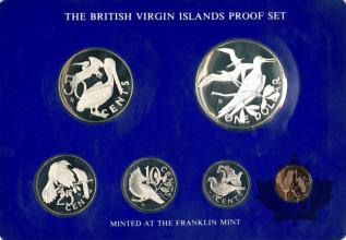 BRITISH VIRGIN ISLANDS-1975-PROOF SET- SÉRIE BE