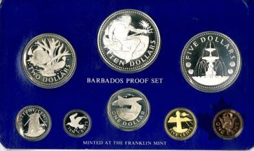 BARBADOS-1976-PROOF SET-SÉRIE BE