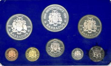 BARBADOS-1976-PROOF SET-SÉRIE BE
